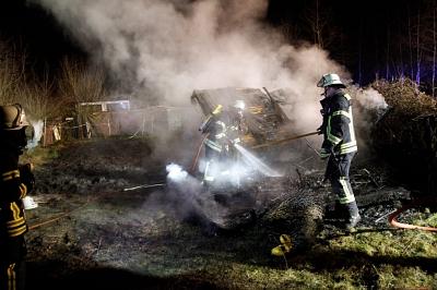 Erneuter Brand einer Gartenlaube