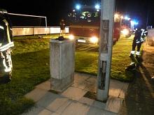 Ein Bauteil schmorte in einem Flutlichtmast