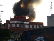 Großbrand Weserrecycling