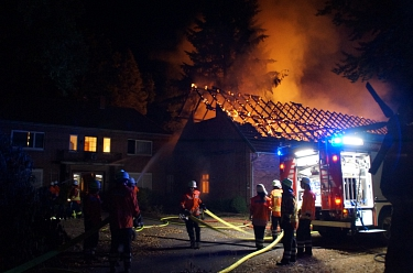Großenvörde 20180808 Gebäudebrand 1