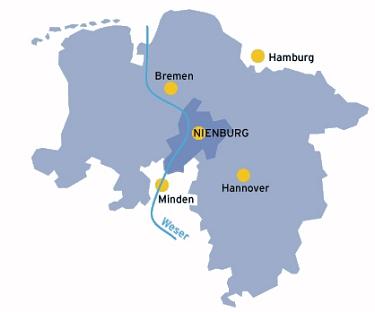 Karte Landkreis Nienburg©Kreisfeuerwehr Nienburg
