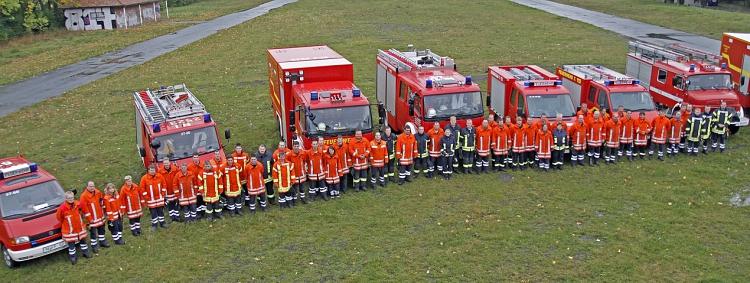 KFB Nord Zug Wasserförderung©Kreisfeuerwehrverband Nienburg