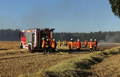 Feuerwehren bei anhaltender Hitze weiter gefordert