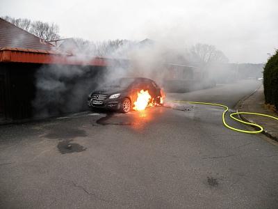 PKW brennt in Steyerberg