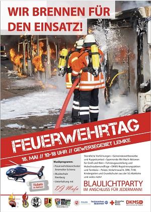 Feuerwehrtag Lemke Plakat